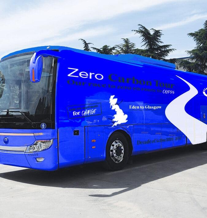 Planet Mark zero carbon tour battle bus